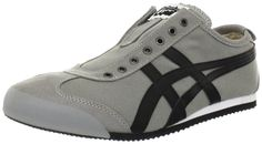 Onitsuka Tiger Mexico 66 Slip-On Shoe,Grey/Black,9.5 M US Women's/8 M US Men's