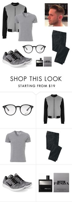 """""""Urban male style."""" by thecourieralex ❤ liked on Polyvore featuring Ray-Ban, Versus, TravelSmith, NIKE, Prada, men's fashion and menswear"""
