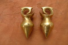 Borneo | Antique pair Penan & Kenyah aristocrat earring (ear weight) from Sarawak Borneo.