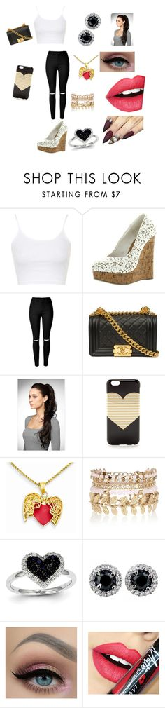 """Day out"" by lsshipper1 ❤ liked on Polyvore featuring Topshop, Chanel, J.Crew, River Island, Kevin Jewelers and Fiebiger"