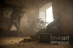 Title:U.s. Army Rangers In Afghanistan Combat  Artist:Tom Weber