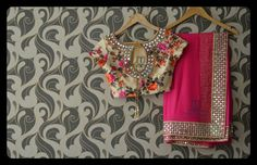 Floral and mirror White Saree Blouse, Mirror Work Saree Blouse, Hijab Outfit, Gota Patti Saree, Minions, Simple Sarees, Plain Saree, Stylish Sarees, Fancy Sarees