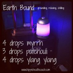 Earth Bound ♥ grounding relaxing chilling. Essential oil blend for diffuser.