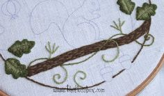 The Floss Box: Three Berries Stumpwork Embroidery