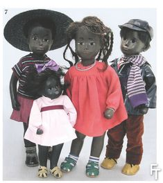 The first family of black Sasha dolls produced by Frido in Britain in Named by the artist 'Chicago Blacks' they were inspired by the fashions and cultural tastes of black Americans living in Chicago, Illinois. The baby doll in the front is named Peaches. Doll Toys, Baby Dolls, Dolly Mixture, Barbie, Sasha Doll, Realistic Dolls, Dolls For Sale, Toy Collector, Doll Maker