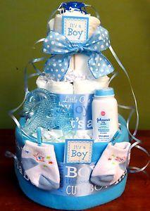 Pinterest Baby Shower for Boys | Pin Loaded Baby Boy Diaper Cake Hidden Gifts Shower Centerpiece Lion ...