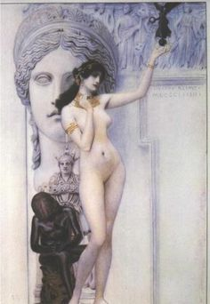 Allegory of Sculpture - Gustav Klimt