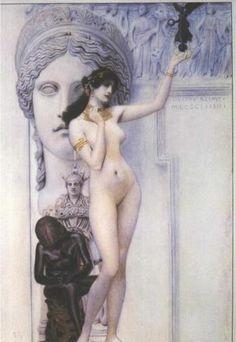 Allegory of Sculpture - Gustav Klimt