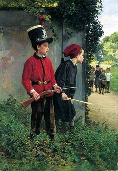 Charles Bertrand D'Entraygues (1851 – 1914,French) | The Ambush