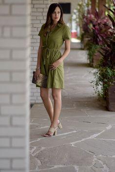 Green Tie Waist Dress | Style the Girl