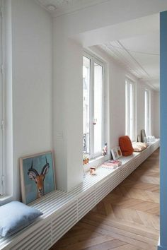 50 beautiful window seat designs that must have in your dream home . House Design, Home Decor Bedroom, Interior Architecture, Home Radiators, Home Decor, House Interior, Window Seat, Furniture Design, Window Seat Design