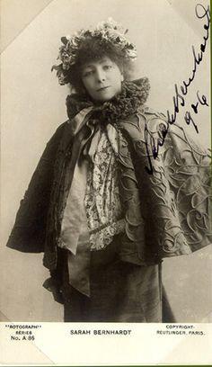 1906 Sarah Bernhardt post card