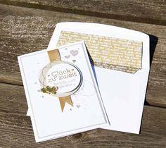 Glückwunschkarte zur Goldenen Hochzeit Stampin´ Up! mit den Stempelsets Geschenk Deiner Wahl, Gorgeous Grunge und Perpetual Birthday Calandar