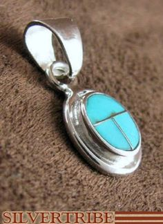 Turquoise Jewelry and Sterling Silver Slide Pendant  RS31927