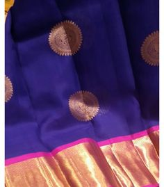 Navy Blue Organza Kanchipuram saree - PH06201605