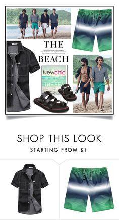 """""""Newchic - The Beach XIV/6"""" by ewa-naukowicz-wojcik ❤ liked on Polyvore featuring H&M, men's fashion and menswear"""
