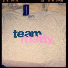 Team Matty tshirt- awkward