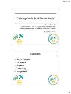 12/08/2015 1 'Gelaagdheid in differentiatie' Innovatiefonds Onderzoek van het Steunpunt Diversiteit en Leren, Arteveldehog...