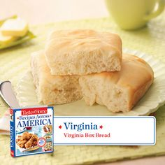 50 States in 50 Days: Virginia :: Virginia Box Bread  Taste of Home.  Find regional Southern recipes like this one and more in our new cookbook, Recipes Across America---->  http://www.tasteofhome.com/rd.asp?id=22997