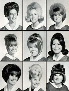 1960s yearbook photos...and check out their hair