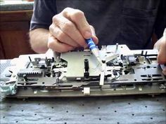 ▶ Un-sticking Stuck Buttons on a Brother Knitting Machine Carriage - YouTube