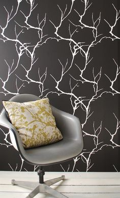 Printed on WallSmart wallpaper (non-woven fleece). WallSmart wallpaper is a new generation of non-woven wallpaper that is easier and faster to hang. When hanging the wallpaper, apply the paste to the wall and than hang the sections by butting the edges together.,Branch, Ferm Living, Branch, Wallpaper