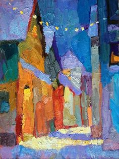 ۩۩ Painting the Town ۩۩ city, town, village house art - Larisa Aukon   'Early Quiet'