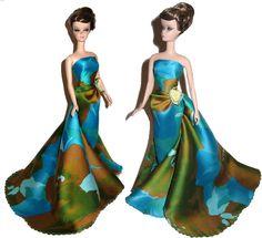 splash! OOAK silkstone Vintage styled Barbie Enchanted Evening Gown