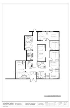 Chiropractic Office Floor Plan #Multi Doctor Office #