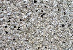 Sample of 'salt and pepper' pebble-dash stucco. Photo: C. Hagemoen