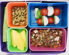 13. Bruschetta Lentil Bento Box #healthy #bentobox #lunch http://greatist.com/health/healthy-bento-box-ideas