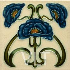 Art Nouveau Reproduction Tile #3, from Villa Lagoon Tile