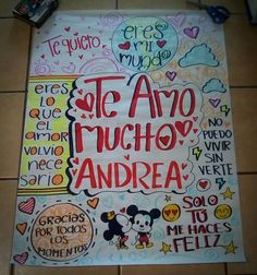 Cartel para mi novia Bf Gifts, Love Gifts, Couple Gifts, Boyfriend Texts, Future Boyfriend, Diy And Crafts, Paper Crafts, Romantic Gifts, Simple Art
