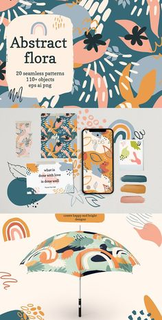 Abstract Flora Patterns by Cozy pattern shop Branding Design, Logo Design, Branding Ideas, Identity Branding, Corporate Branding, Kids Branding, Business Branding, Luxury Branding, Packaging Design Inspiration