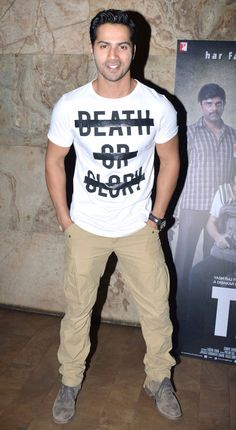 Varun Dhawan at a special screening of #Titli. #Bollywood #Fashion #Style #Handsome