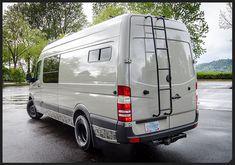 Custom Stone Grey Mercedes Sprinter Conversion Outsidevan
