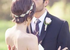 ヘッドドレスがかわいい♡ショートのweddingヘアスタイル