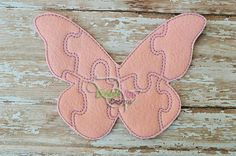 Butterfly Felt Puzzle and many more items are available for purchase at https://www.etsy.com/shop/SchoolhouseBoutique