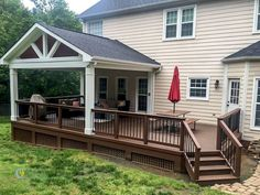 56 Ideas For Backyard Porch Design Covered Patios Screened Porch Designs, Backyard Patio Designs, Pergola Designs, Pergola Ideas, Patio Ideas, Back Deck Ideas, Backyard Deck Ideas On A Budget, Porch Roof Design, Screened In Deck