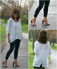 Styling white and denim for women over 40.
