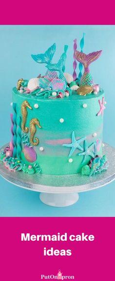 Sirenita Cake, Mermaid Birthday Cakes, Mermaid Cupcake Cake, Mermaid Tail Cake, Little Mermaid Cakes, Mermaid Mermaid, Vintage Mermaid, Mermaid Tails, Zucchini Cake