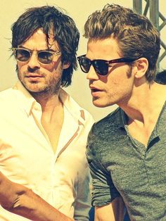 Ian Somerholder & Paul Wesley - love me some salvatore brothers<3 #vampirediaries