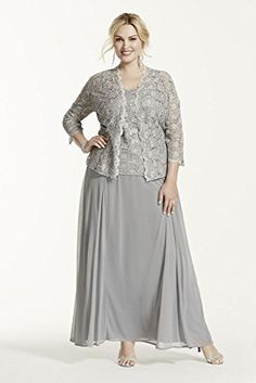 Plus Size Two Piece Lace and Chiffon Jacket Mother of Bride/Groom Dress Style... David's Bridal http://www.amazon.com/dp/B00IS3NUGC/ref=cm_sw_r_pi_dp_YMA-vb0WJ2XM0