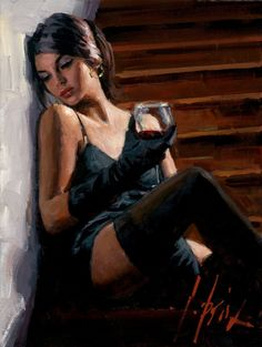 Fabian Perez Saba on the Stairs Whitewall painting for sale - Fabian Perez Saba on the Stairs Whitewall is handmade art reproduction; You can shop Fabian Perez Saba on the Stairs Whitewall painting on canvas or frame. Fabian Perez, Photo Glamour, Jack Vettriano, Pulp Art, Woman Painting, Sexy Painting, Beautiful Paintings, Beautiful Wall, Erotic Art