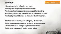 Wolves by Louis MacNeice