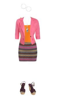 WetSeal.com Runway Outfit:  business does not equal boring by October Raine. Outfit Price $71.49