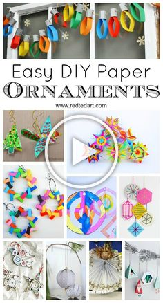 Oh the wonders of PAPER! We love Paper Crafts for Kids and we LOVE Christmas Ornaments. Gorgeous Paper Christmas Ornament DIYs for you Paper Crafts For Kids, Diy Paper, Diy Christmas Gifts For Family, Christmas Ideas, Home Crafts, Diy Crafts, Paper Christmas Ornaments, Diy Woodworking, Diys