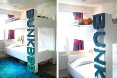 A creative bunk bed ladder