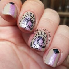 Nail Art Stamp Template Quirky Arabesque Pattern QA88 http://lacqueredmama.blogspot.com/2014/08/born-pretty-store-stamper-and-plate.html?m=1#more