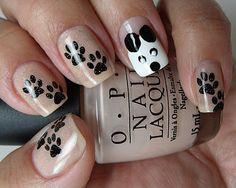 Animal print nails. So cute.